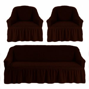 купить Комлект чехлов на диван и кресла Love you черный шоколад
