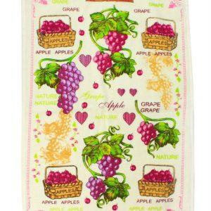 купить Кухонное полотенце Виноград 40x60см розовое