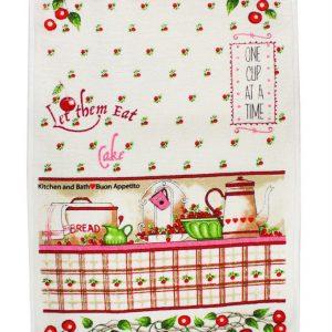 купить Кухонное полотенце Вишня 40x60см розовое