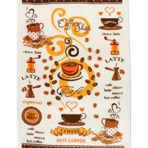 купить Кухонное полотенце Горячее Кофе 40x60см кофейное