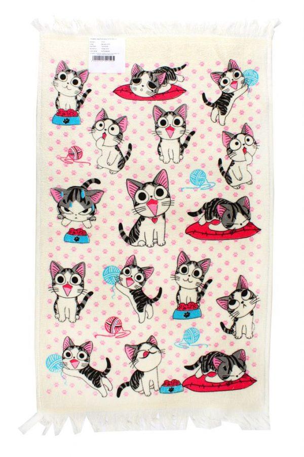 купить Кухонное полотенце Котята 40x60см розовое