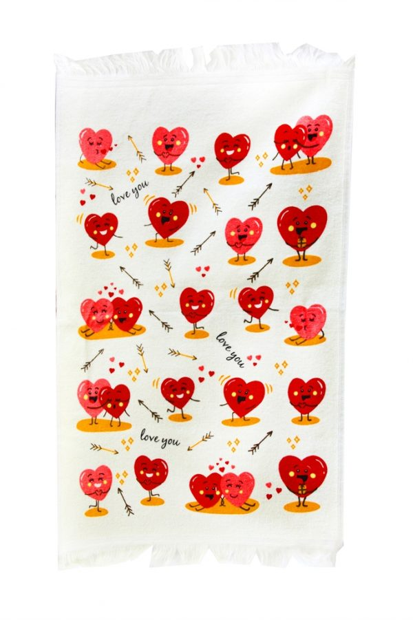 купить Кухонное полотенце Любовь 40x60см красное