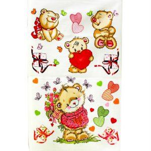 купить Кухонное полотенце Медвежата 40x60см розовое