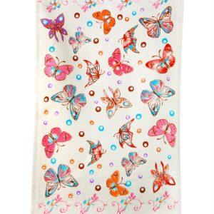купить Кухонное полотенце Мотылек 30x50см розовое