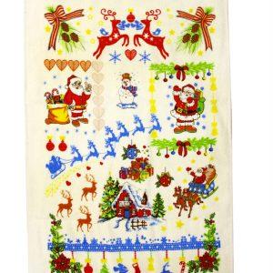 купить Кухонное полотенце Новое Год 40x60см красное