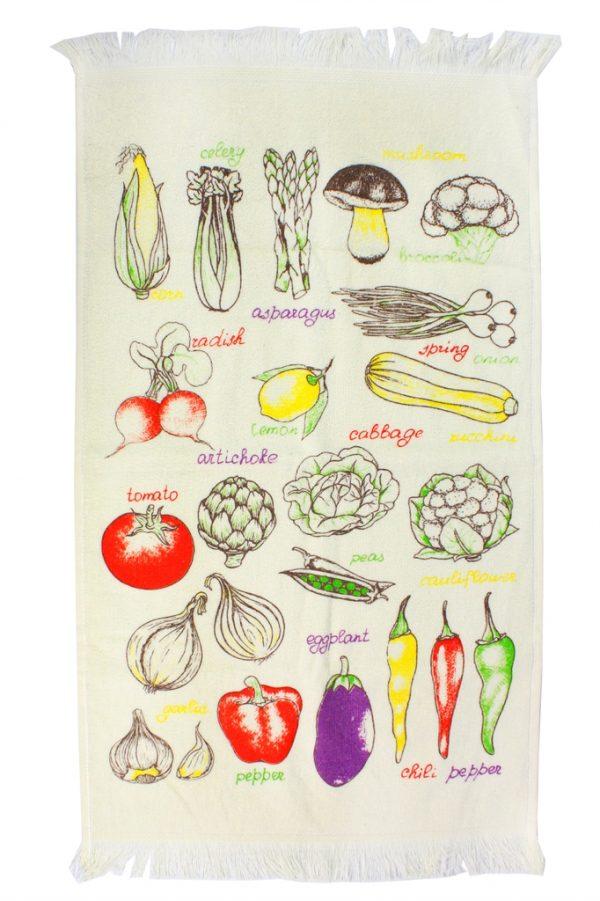 купить Кухонное полотенце Овощи 40x60см желтое