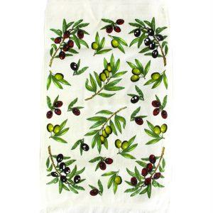 купить Кухонное полотенце Оливки new зеленое