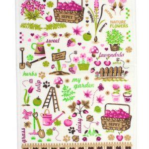 купить Кухонное полотенце Сад 30x50см розовое