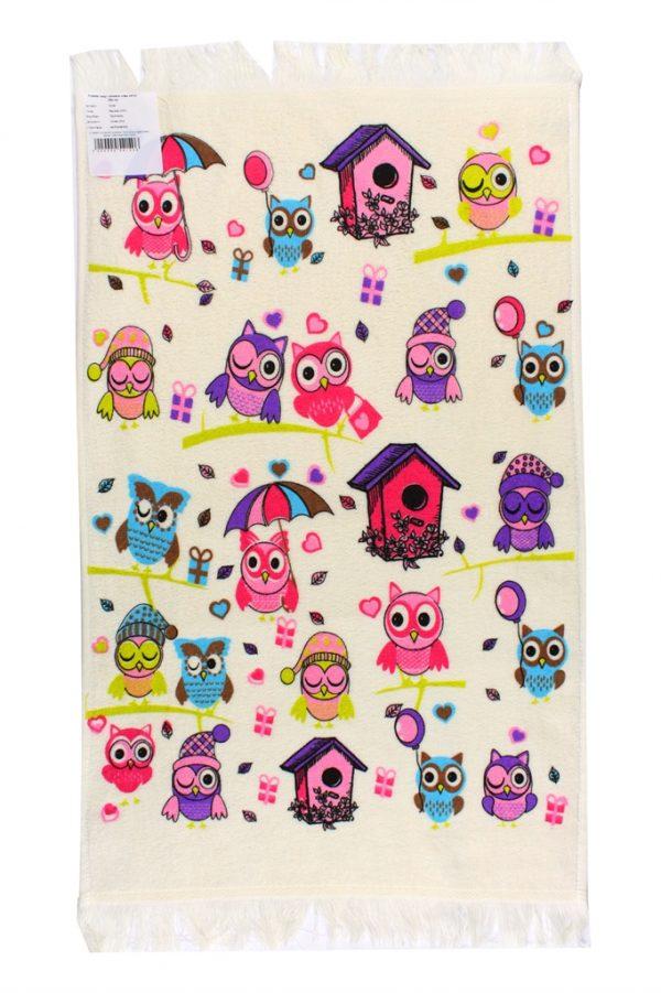 купить Кухонное полотенце Совы Осень 40x60см розовое