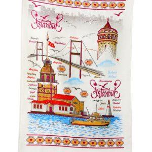 купить Кухонное полотенце Стамбул 40x60см голубое