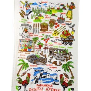 купить Кухонное полотенце Турция 40x60см зеленое