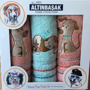 Кухонное полотенце с вышивкой 3 шт ТМ Altinbasak махра 3 kopek 30×50 (3 шт)