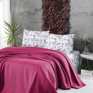 Летнее постельное белье Пике ТМ First Choice deluxe pike fusya 200×220
