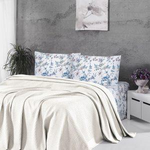 Летнее постельное белье Пике ТМ First Choice deluxe pike krem 200×220