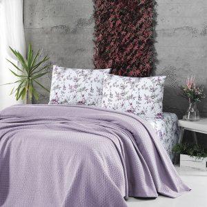 Летнее постельное белье Пике ТМ First Choice deluxe pike lila 200×220