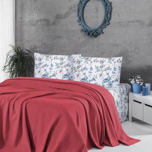 купить Летнее постельное белье Пике ТМ First Choice deluxe pike mercan 200x220