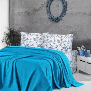 купить Летнее постельное белье Пике ТМ First Choice deluxe pike turquaz 200x220