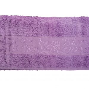 Махровое полотенце ТМ Hanibaba бамбук лиловый