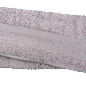 купить Махровое полотенце ТМ Hanibaba бамбук светло-серый