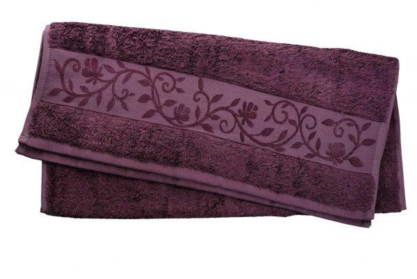 купить Махровое полотенце ТМ Hanibaba бамбук сливовый