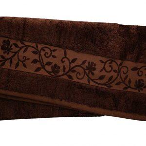 купить Махровое полотенце ТМ Hanibaba бамбук темно-коричневый