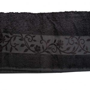 купить Махровое полотенце ТМ Hanibaba бамбук темно-серый