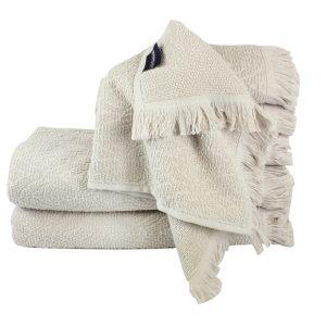 купить Махровое полотенце Aquarelle серое