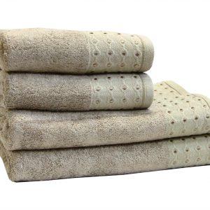 Махровое полотенце Bamboo Puan бежевое