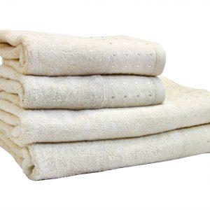 купить Махровое полотенце Bamboo Puan кремовое