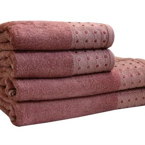 Махровое полотенце Bamboo Puan лиловое