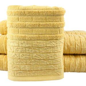 купить Махровое полотенце DAISY желтое