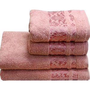 Махровое полотенце Lale розовое