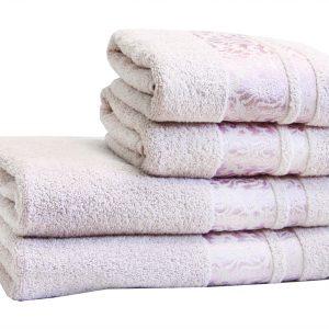 Махровое полотенце Lale сиреневое