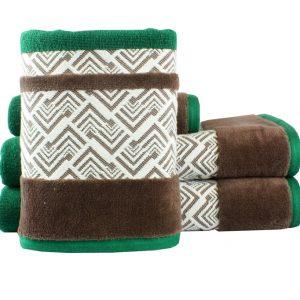 купить Махровое полотенце NAZENDE зеленое