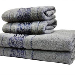 купить Махровое полотенце Ottoman серое