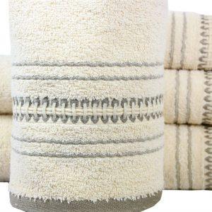купить Махровое полотенце Pacific 50x90см бежевое