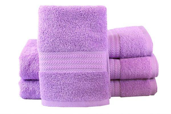 купить Махровое полотенце RAINBOW сиреневое