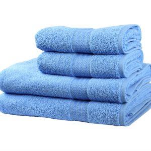Махровое полотенце RAINBOW 30×50см голубое