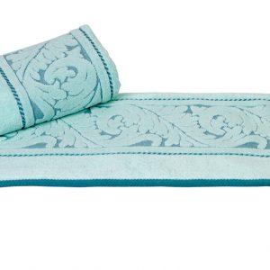 купить Махровое полотенце Sultan голубое 2