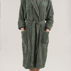 купить Махровый халат TAC Maison 3d Koyu Yesil S/M