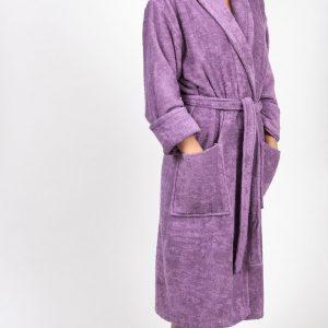 купить Махровый халат TAC Maison 3d Orkide Lila S/M
