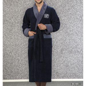 купить Мужской халат Nusa ns 1140-1 синий m007116
