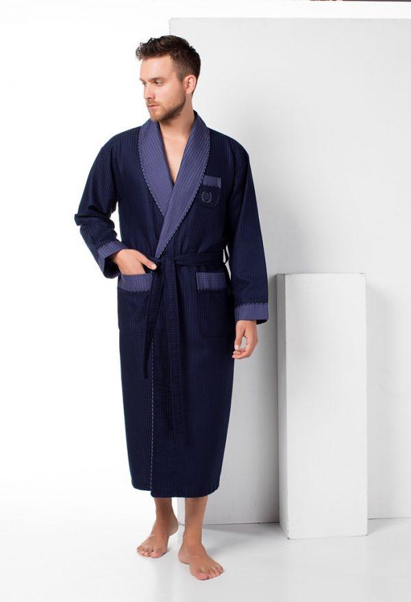 купить Мужской халат Nusa ns 12680 синий m009148