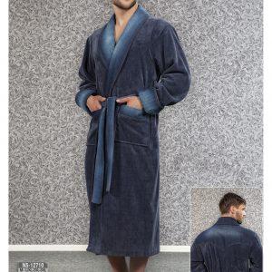 Мужской халат Nusa ns 12710 синий m012283