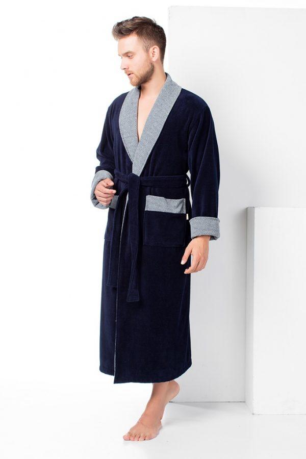 купить Мужской халат Nusa ns 15140 синий m013609