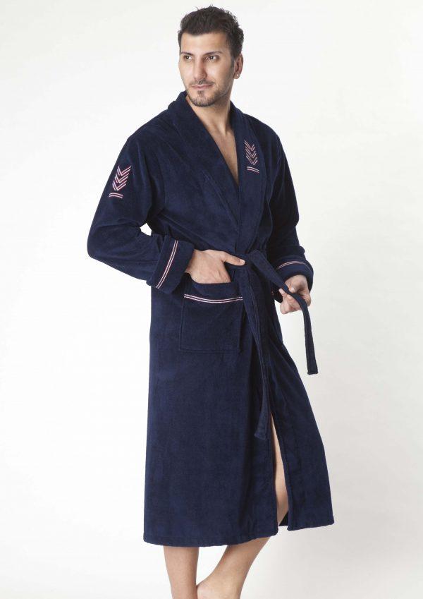купить Мужской халат Nusa ns 2195 синий m005350
