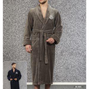 купить Мужской халат Nusa ns 2820 хаки m013670