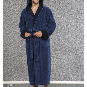 купить Мужской халат Nusa ns 2845 синий m012282