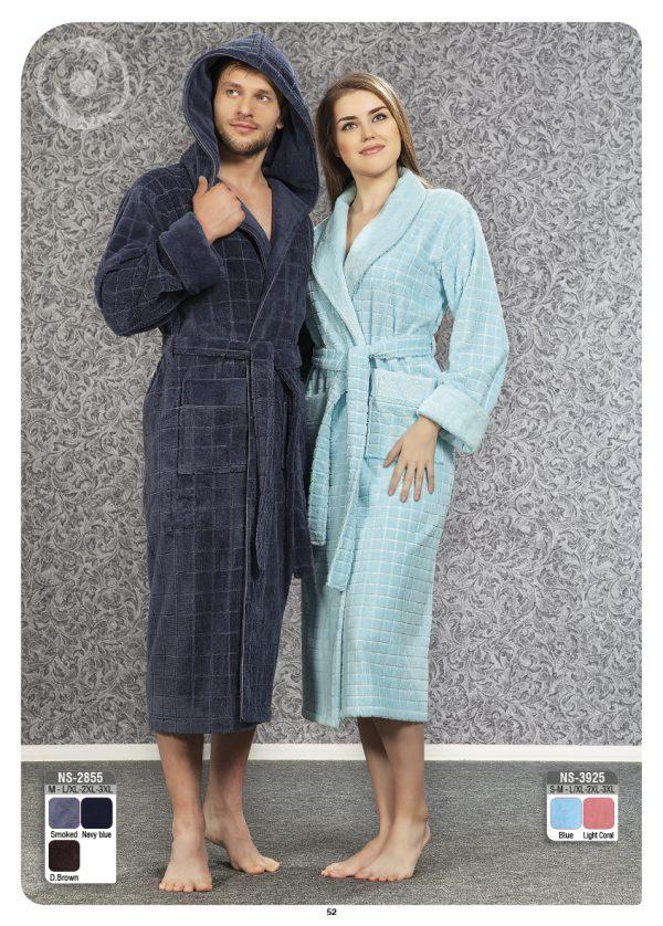 купить Мужской халат Nusa ns 2855 серый m012612