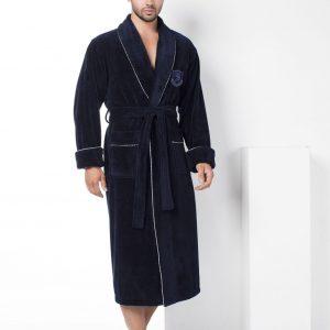 купить Мужской халат Nusa ns 2940 синий m013610